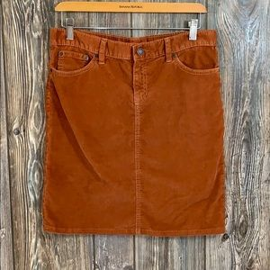 GAP limited edition copper corduroy mini skirt 6